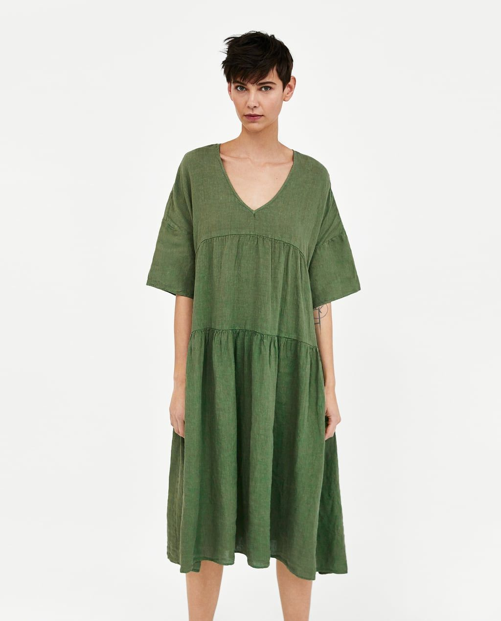 54a50ca552 Image 3 of OVERSIZED LINEN DRESS from Zara Zara, Ruhák, Stílus, Ruha