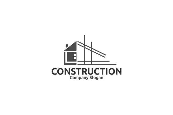 Construction logo by bekblack on creativemarket art for House construction companies