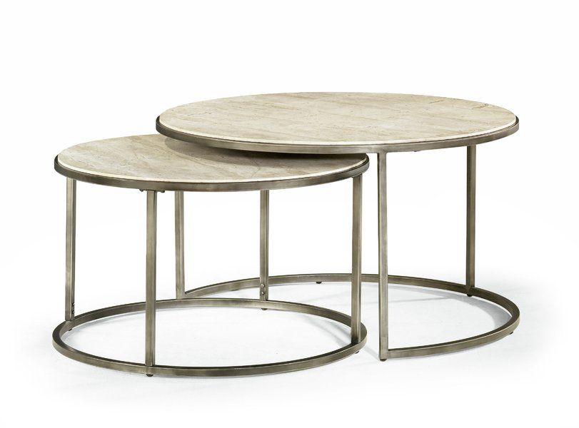 Best Foundstone Antonio 2 Piece Coffee Table Set Round 640 x 480