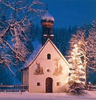 Chapel in Germany's Karwendel mountains.