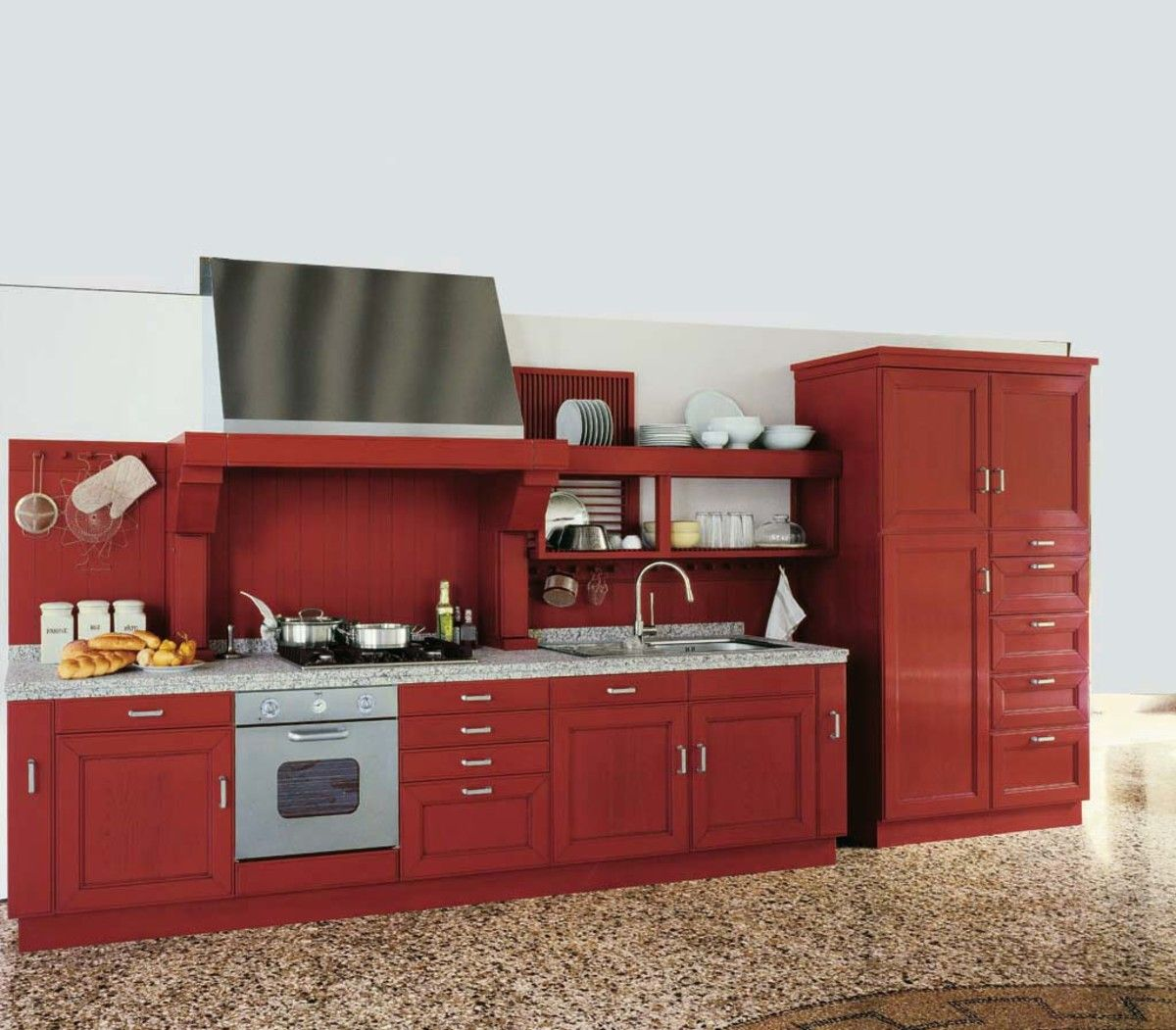 Accessories Furniture Adorable Red Wood Kitchen Cabinet Design Inspiration With Stylish White Red Kitchen Cabinets Kitchen Cabinets Height Cabinets For Sale