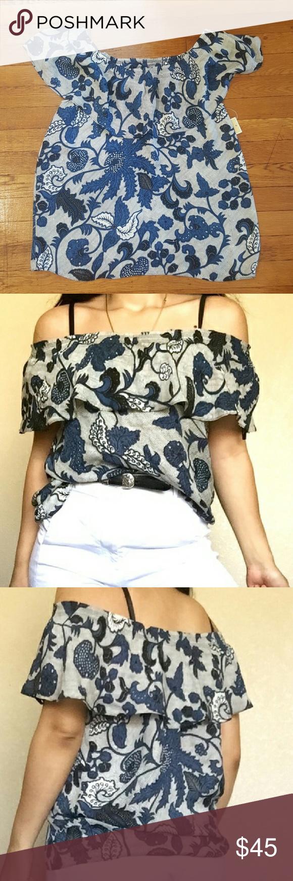 Michael Kors silk blouse Beautiful silk off the shoulders blouse Michael Kors Tops Blouses