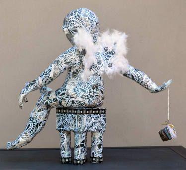 """Saatchi Art Artist Lorry Bentham; Sculpture, """"Cherubim - Back"""" #art"""