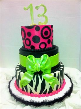 love the decoration of this cake! it's perfect for the girls!