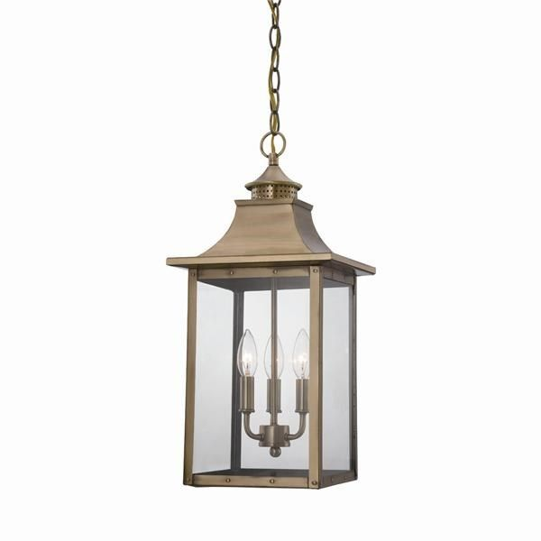 Acclaim Lighting 8316 St Charles 3 Light Outdoor Hanging Lantern Light Fixture Outdoor Pendant Lighting Lantern Pendant Lighting Hanging Lantern Lights