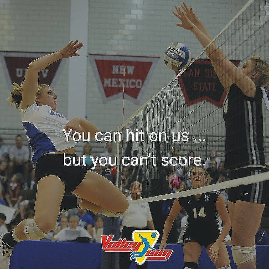 You Can Hit On Us But You Can T Score Volleyball Volleyball Volleyball Players Coaching