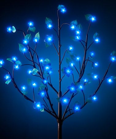 Take a look at this Blue LED Indoor/Outdoor Bush Light by Exhart on