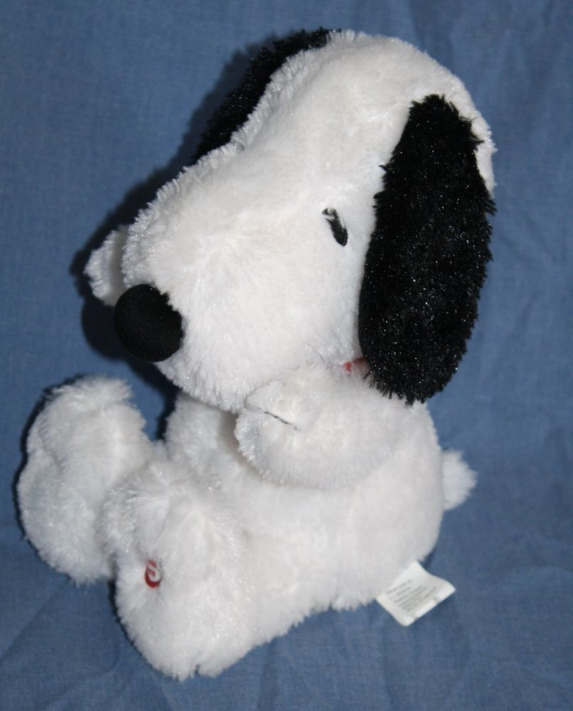 Snoopy Giggling Laughs Shakes Vibrate Plush Stuffed Animal Soft
