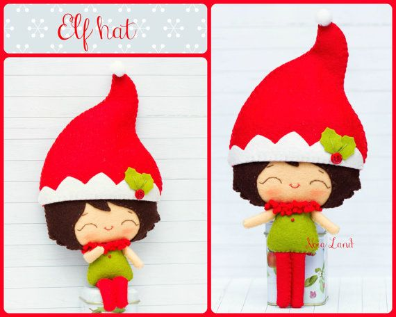 PDF Pattern. Elf boy with Christmas hats: Elf hat, Snowman hat and ...