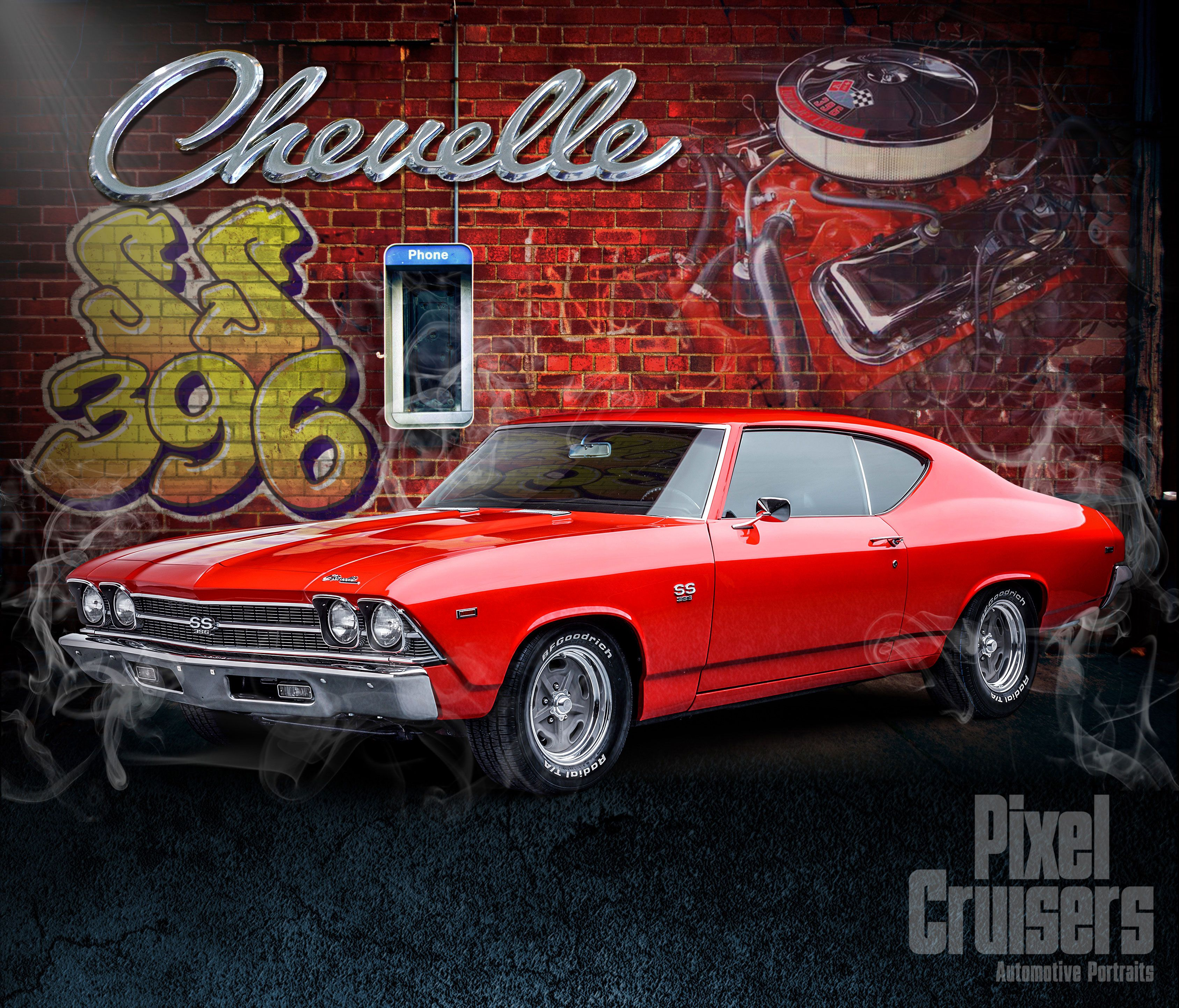 "chevy chevelle ""american muscle"" calendar page from the 2016 o"