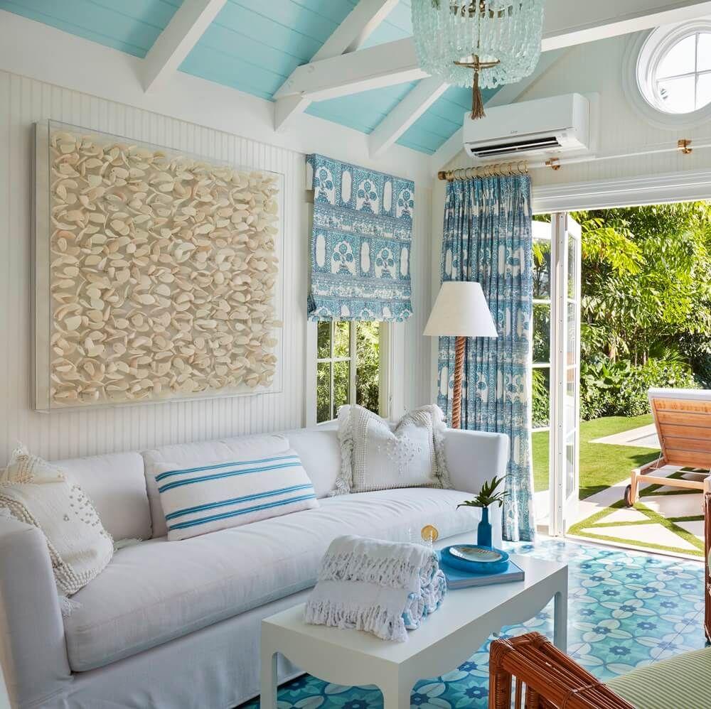 Palm Beach House By The Sea Sugars Beach Beach Theme Living
