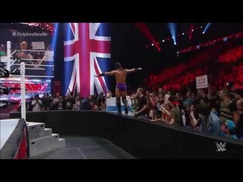 WWE RAW Neville's Amazing 450 Splash On Dolph Ziggler - YouTube