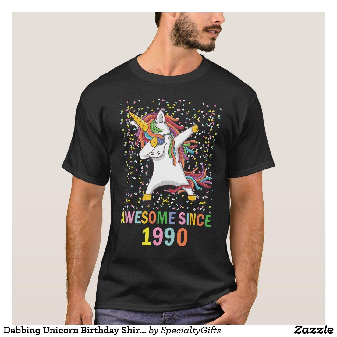 Dabbing Unicorn Birthday Shirt ,Awesome Since 1990