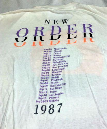 New Order 1987 Vintage Concert T-shirt  NewOrder  bd57e3d89375