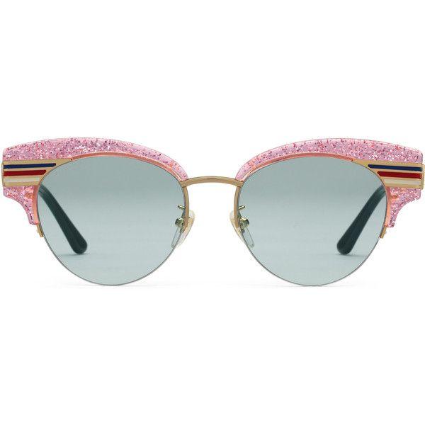 glitter cat-eye sunglasses - Metallic Gucci d223Eexq0T