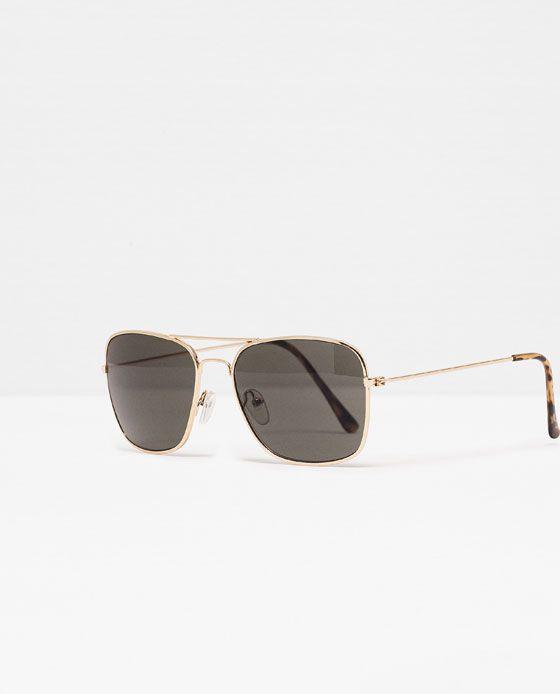 7730d60f67 ZARA - HOMBRE - GAFAS DE SOL MONTURA DORADA | Gafas | Gafas de sol ...