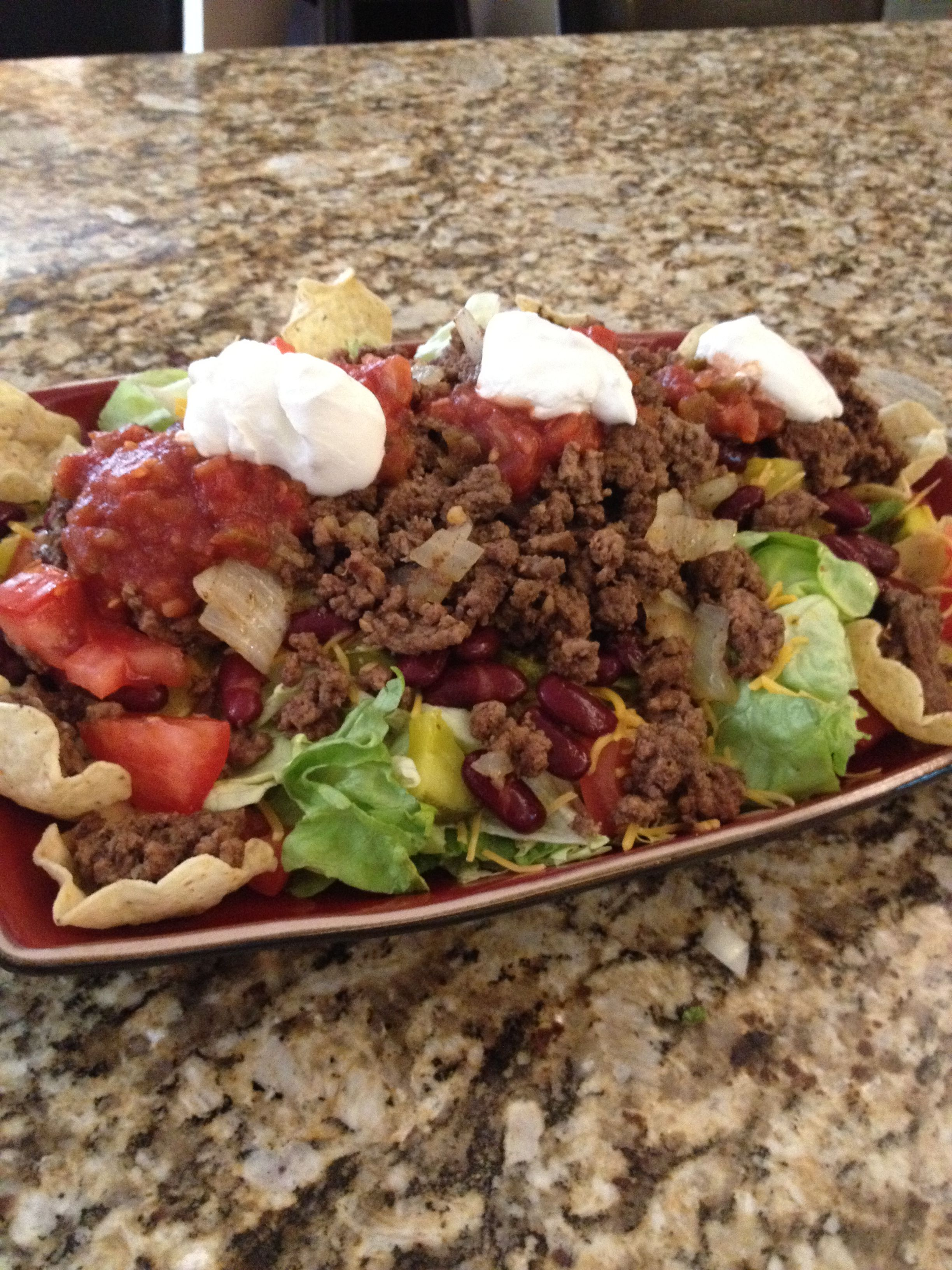 6 layer taco salad - today's lunch!