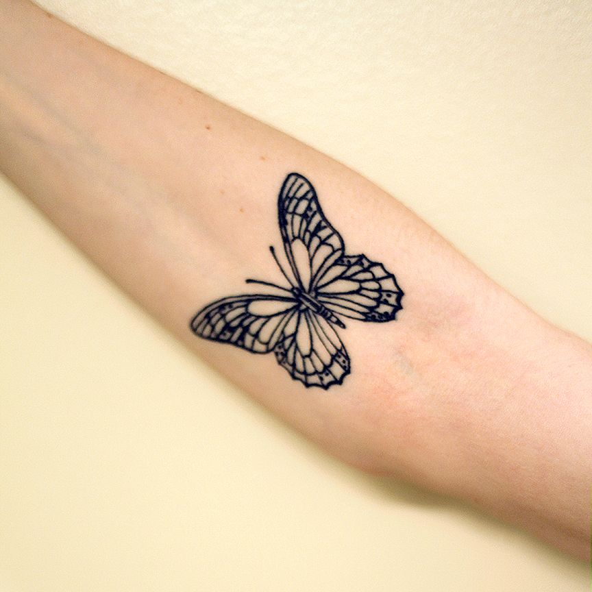 My inner arm tattoo tats pinterest inner arm for Butterfly tattoo arm designs
