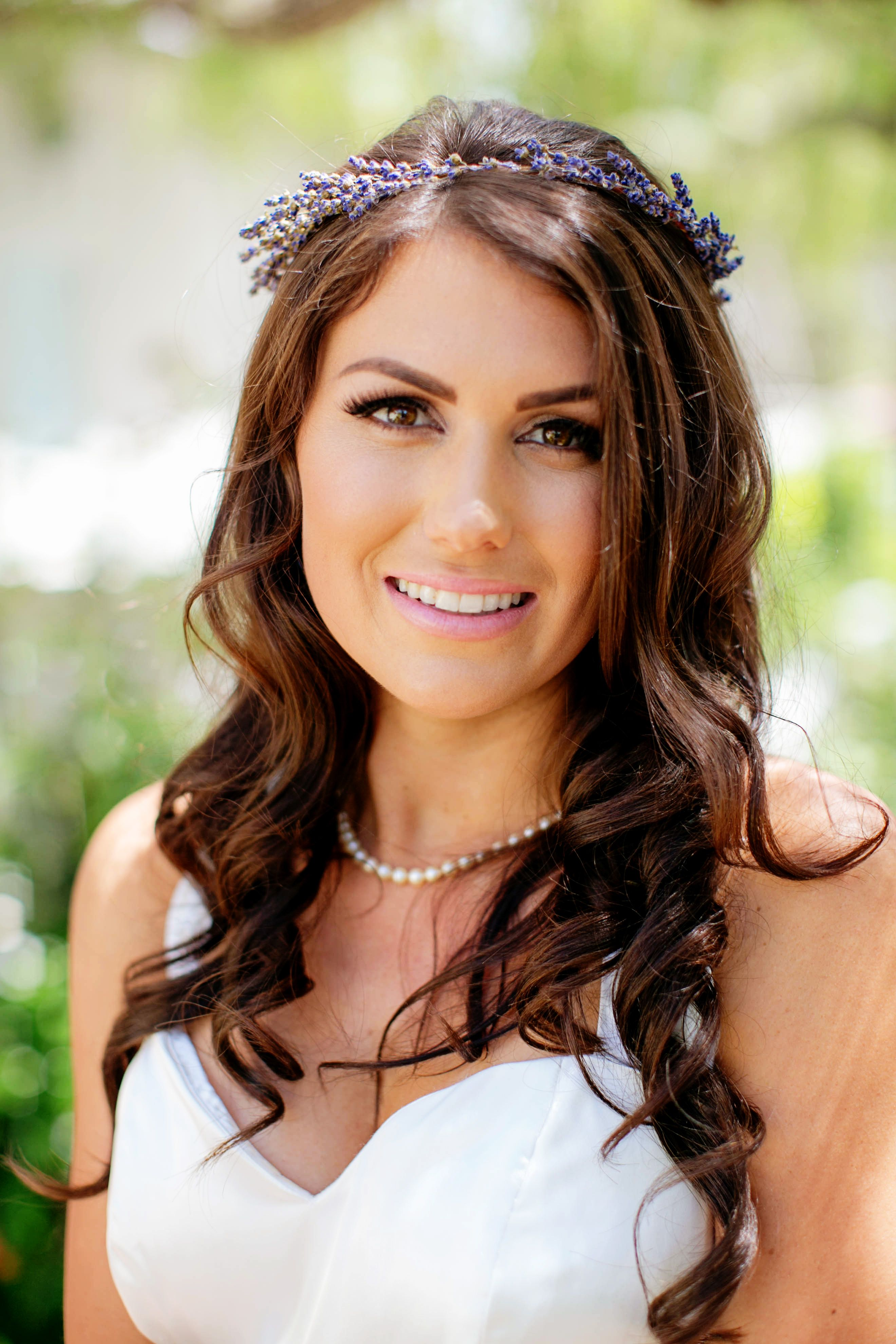 Bride hair and makeup by Unveiled Makeup and Hair in Santa