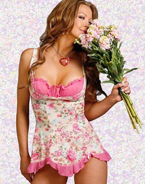 fbf4705e2b Sexy Lingerie Floral Sleepwear Nightwear Gown Babydoll Underwear Plus Size  XL