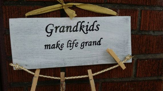 Check out this item in my Etsy shop https://www.etsy.com/listing/230730920/hand-painted-grandkids-sign