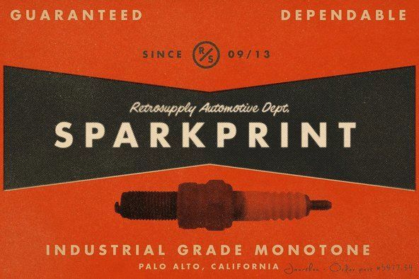 SparkPrint | Your Personal Halftone Factory By RetroSupply Co. on YouWorkForThem.