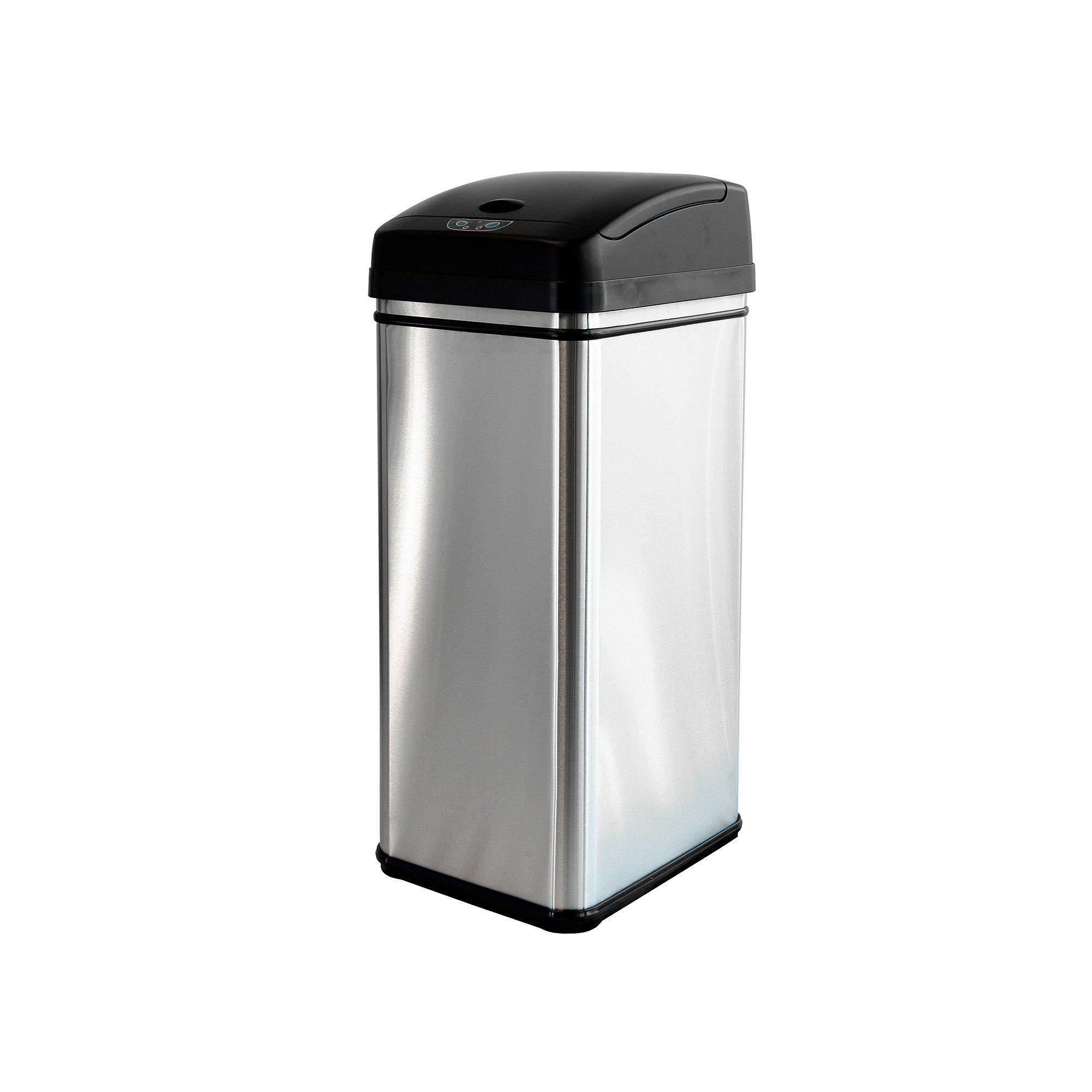 iTouchless Deodorizer 13-gallon Stainless Steel Touchless ...