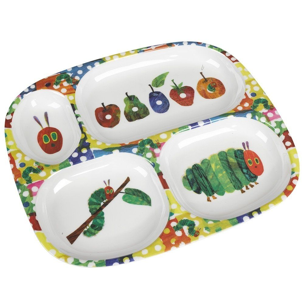 The Very Hungry Caterpillar Melamine Divided Plate  sc 1 st  Pinterest & The Very Hungry Caterpillar Melamine Divided Plate | ➳ Kiddos ...