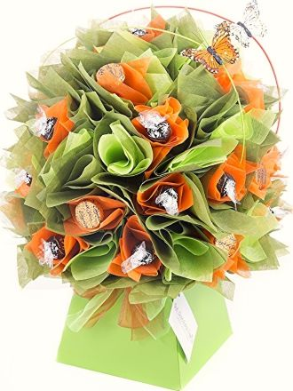 Love Dark chocolate? Love Lindt Chocolate? Then you will love this Orange Marigold Chocolate Bouquet by The Chocolate Florist! Visit www.thechocolateflorist.co.uk to find out more about us.
