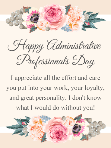 Appreciate Your Effort Happy Administrative Professionals Day Card Birthday Greeting Cards By Davia Administrative Professional Day Administrative Professional Birthday Greeting Cards