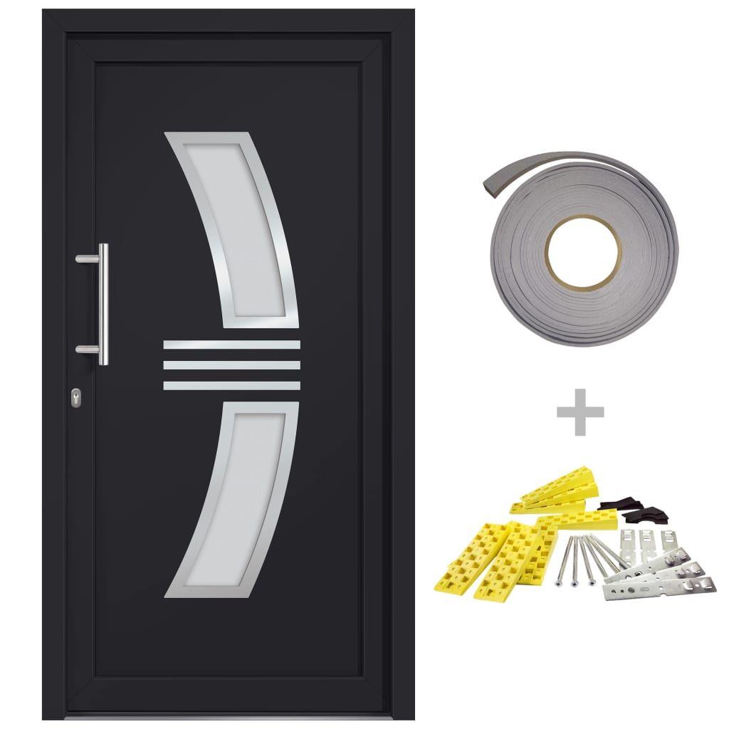 vidaXL Front Door Anthracite 98×200 cm