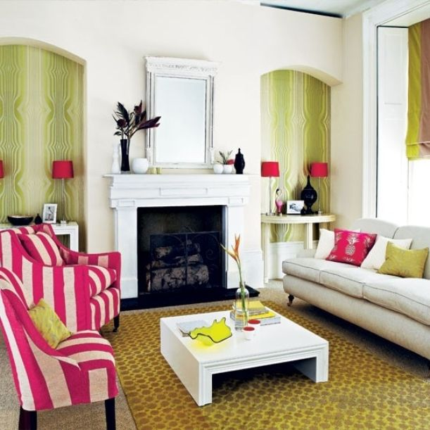 Spring Is In The Air Glamorous Living Room Living Room Designs Bold Living Room #pink #and #green #living #room #ideas