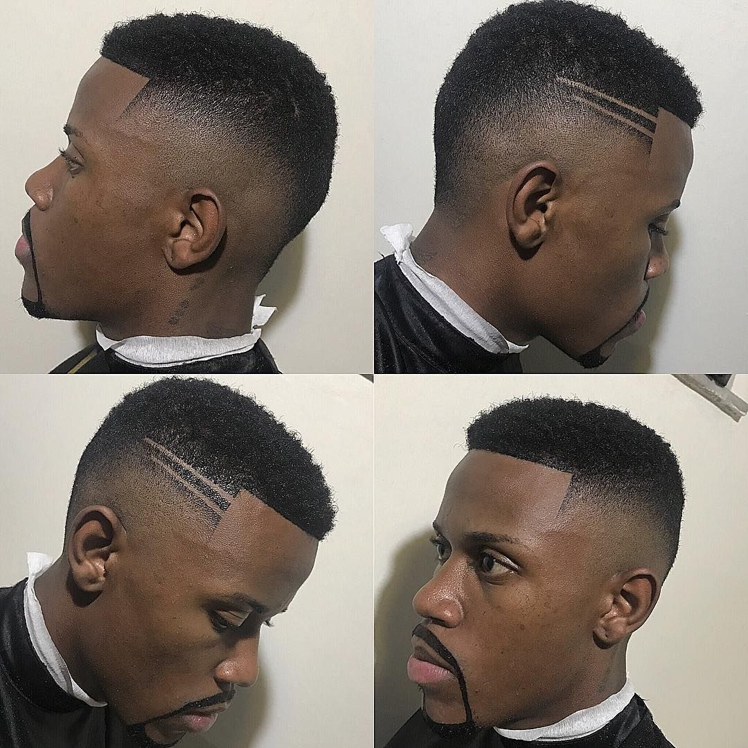 Crew cut drop fade hard part black mens haircuts black men