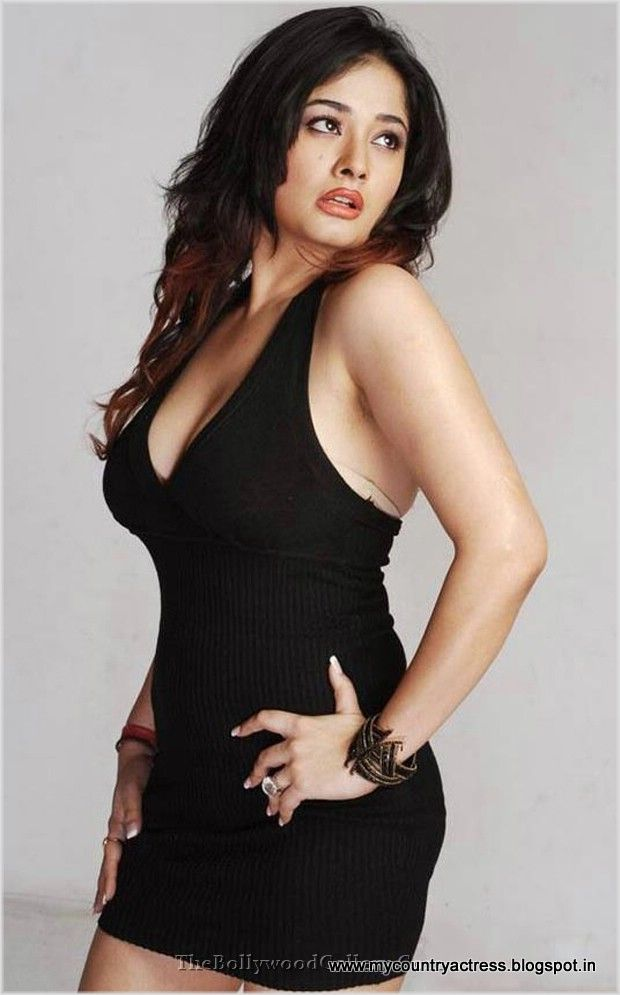 black tight dress | Kiran Rathod posing in a tight black mini ...