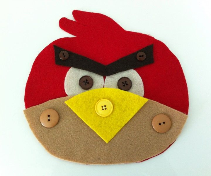 Work on buttoning skills with an Angry Bird!