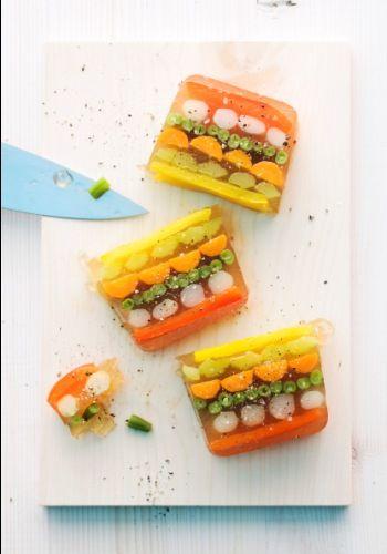 Serviervorschlag für Gemüsesülze