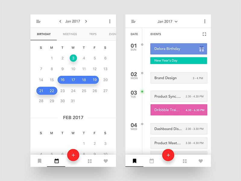 Calendar App Ui : Event calendar ios app