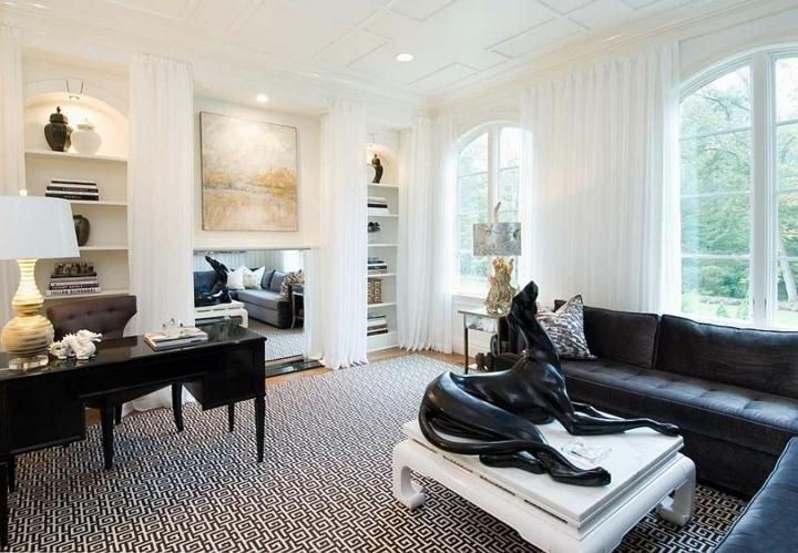 Schwarz und Weiß, Farben, um ein einzigartiges Büro zu machen | Haus
