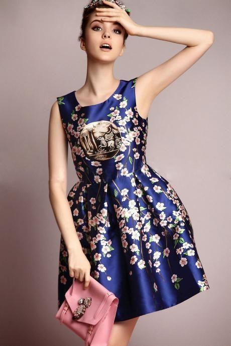 The high-grade temperament Printed Dress