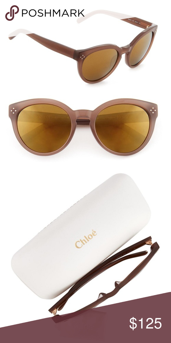 5907e09824ce NWT CHLOÉ Turtledove Cat Eye Sunglasses These chic Italian-crafted  sunglasses from Chloé are designed