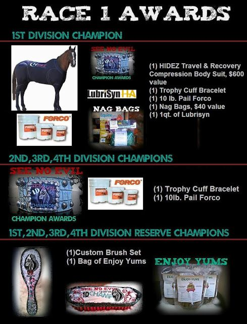 horse show awards and prizes for the see no evil benefit barrel race