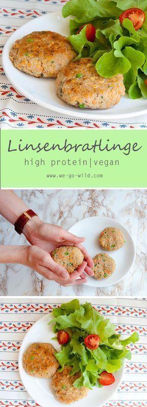 Rote Linsenbratlinge (vegan) Recept Food Pinterest