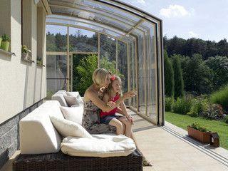 Coperture mobili per terrazzi CORSO   verande in vetro   Pinterest ...