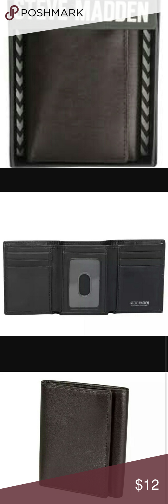 NIB Tri-fold Wallet New In Box. Steve Madden Tri-fold Wallet Steve Madden Accessories Money Clips