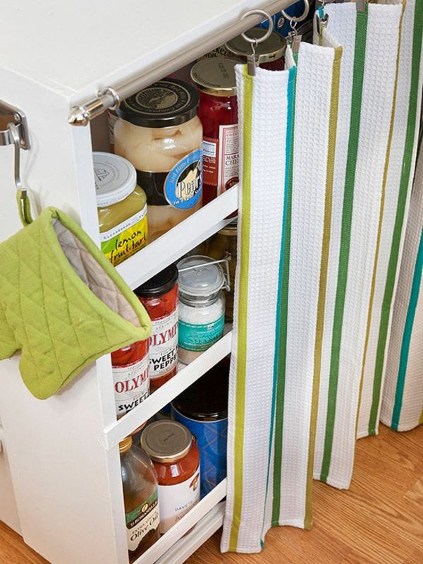 stauraum aufbewahrung für konsservendosen weiße Küchen - kleine kchen ideen
