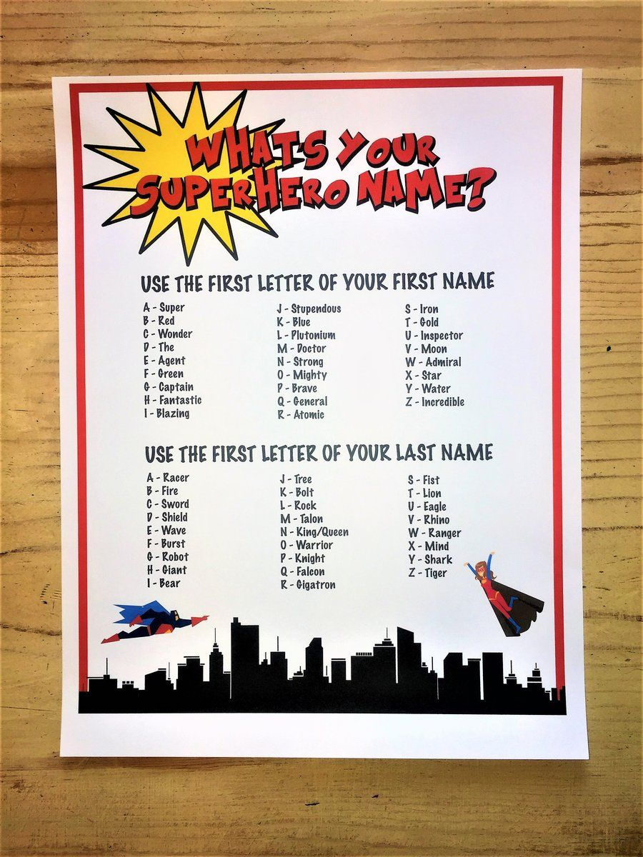 Superhero Name Generator Superhero Names Superhero Teacher Appreciation Superhero Classroom Theme