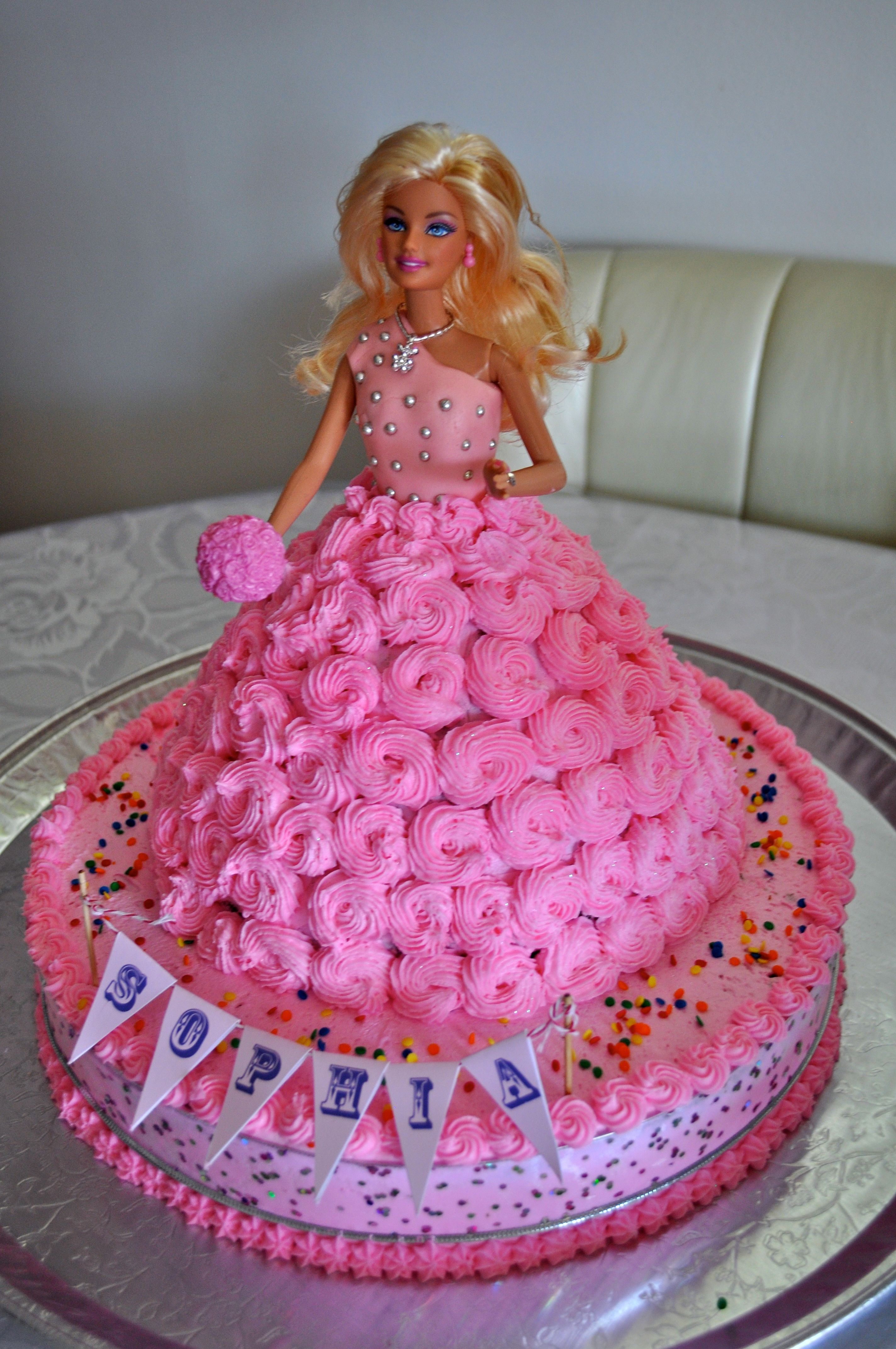 Картинка торт с куклой