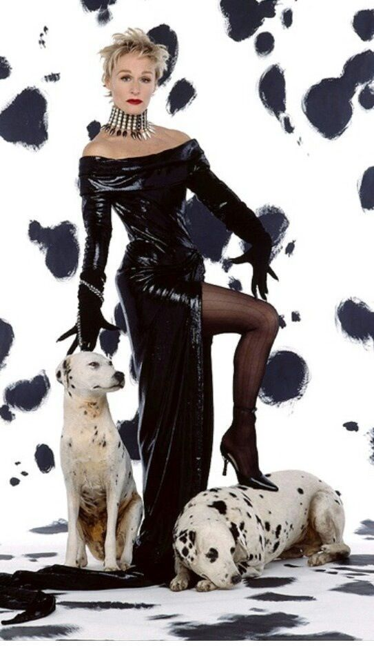 Cruella De Vil Costume 101 Dalmatians Or 102 Dalmatians I Love Black AnLove  Glenn So Cute Absoluty Wonderful!
