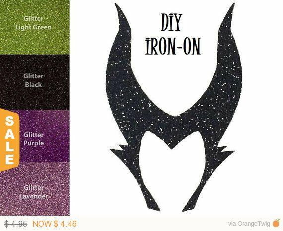 Diy Evil Fairy Queen Iron On Vinyl Applique Maleficent