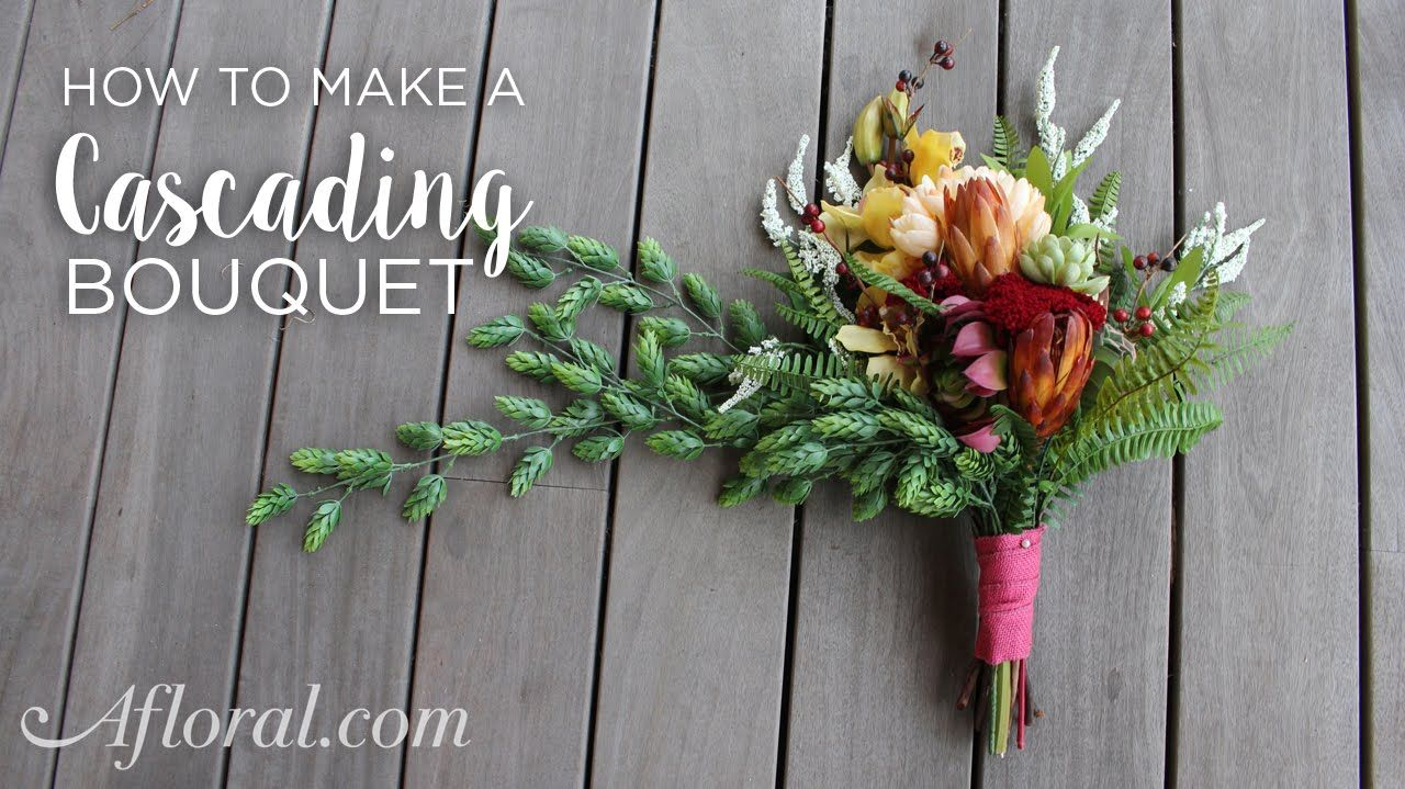 How To Make A Cascading Bouquet Angelas Wedding Decorations